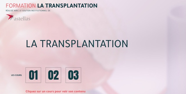 Astellas lance une formation sur la transplantation